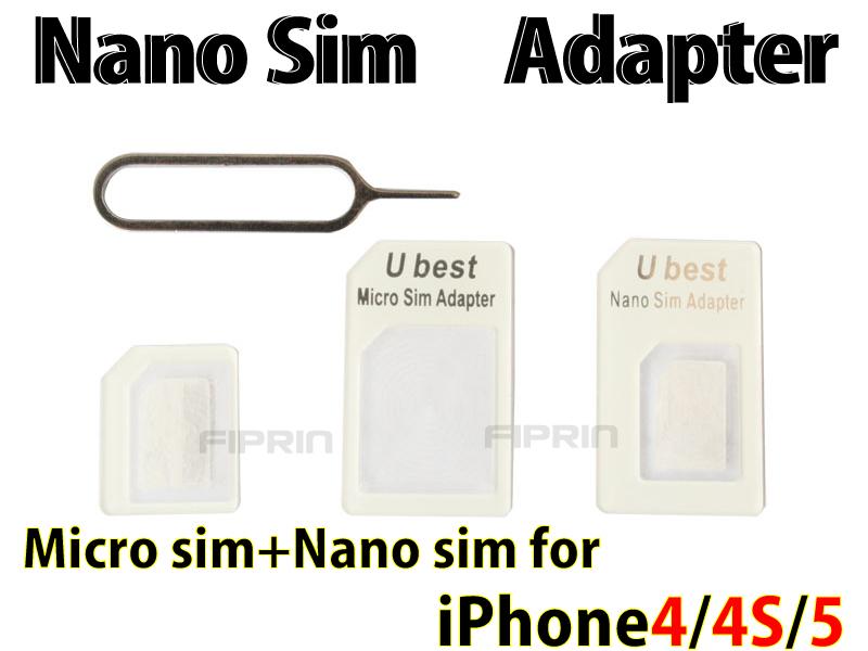 iPhone 5/4S/4/NanoSIM→SIMカード■NanoSIM MicroSIM 変換アダプター ■SIM 取り出しツール付き■3点セット